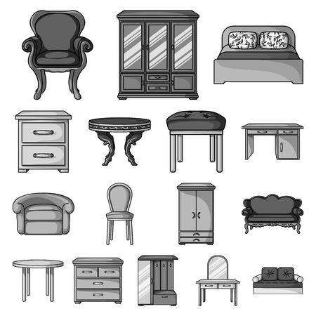 Furniture and interior furniture icons.
