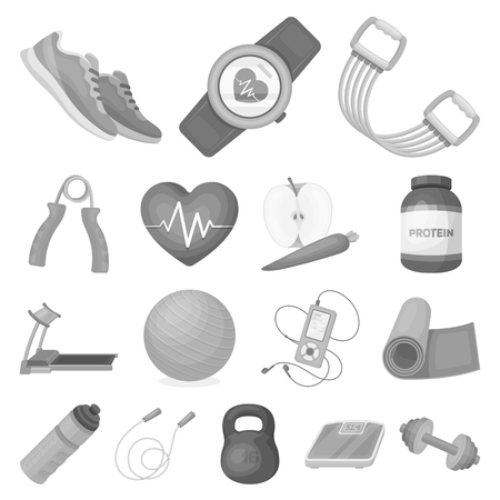Gym and training icons.