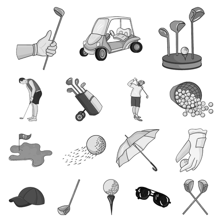 Golf and attributes icons.