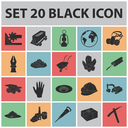 Industry black icons.