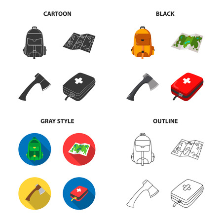medicines, attributes, tourism and other web icon in different style.first, aid, kit, bag icons in set collection.