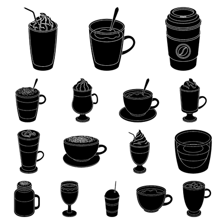 Different kinds of coffee icon. Иллюстрация
