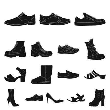 Different black shoes icon.