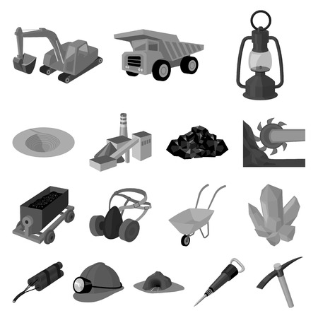 Industry icons in set collection for design.