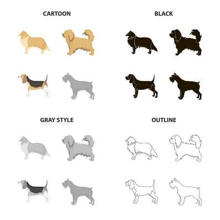 Different types of dog icon.