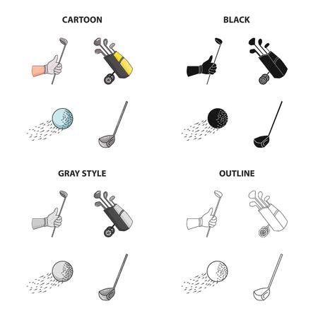 Golf equipment icon.