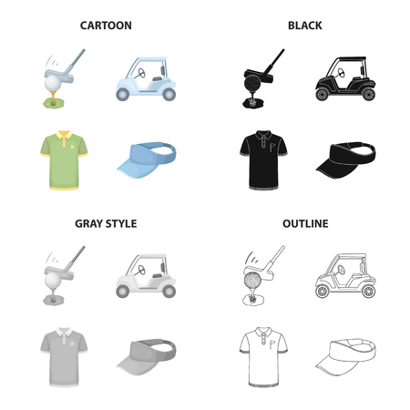 Sports, putter, ball, and other web icon in cartoon style Illustration