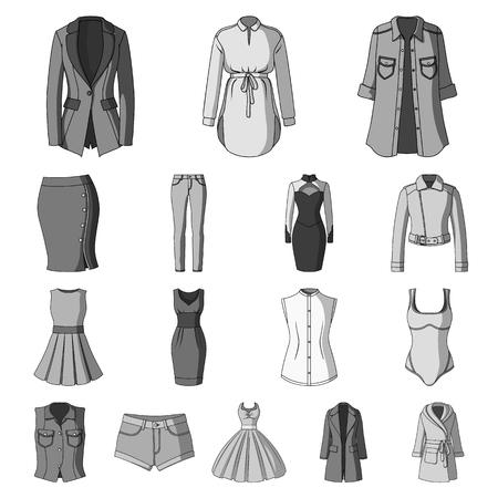 Women's Clothing icons Vettoriali