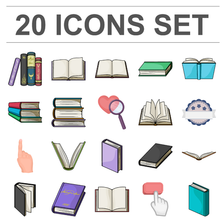 Book in the binding cartoon icons in set collection for design. Printed products vector symbol stock  illustration.