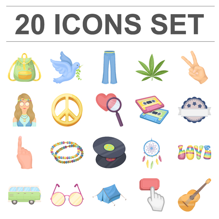 Happy and attribute cartoon icons in set collection for design. Happy and accessories vector symbol stock web illustration. 向量圖像