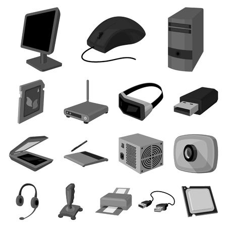 icônes monochromes ordinateur portable dans collection ensemble pour la conception. équipement et accessoires vecteur de conception. concept d & # 39 ; image