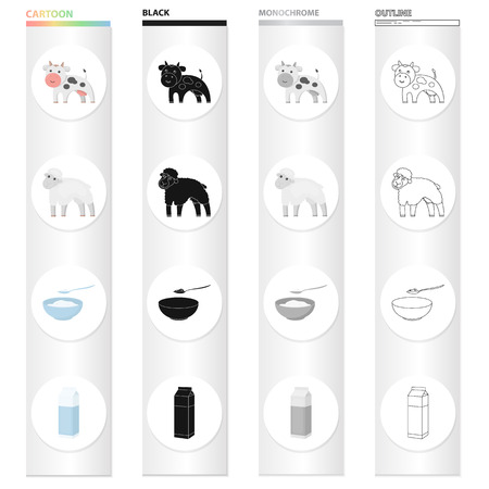 Production, nature, agriculture and other web icon in cartoon style.Animal, domestic, farm, icons in set collection. 일러스트