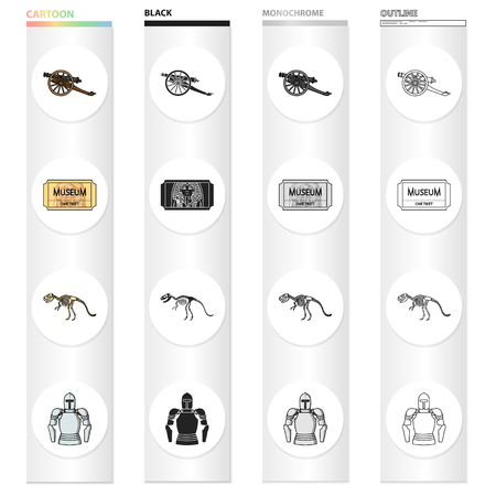 Museum, history, antiquities and other web icon in cartoon style. Mail, listening, clothing, icons in set collection.