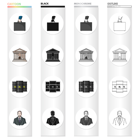Bank, security, ecology and other web icon in cartoon style.Suit, banker, profession, money icons in set collection.