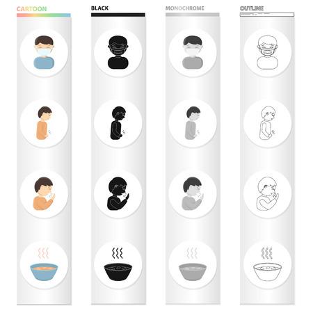 Set of hospital concept icon illustration.