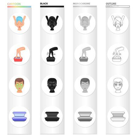 Hygiene icons in set collection Ilustração