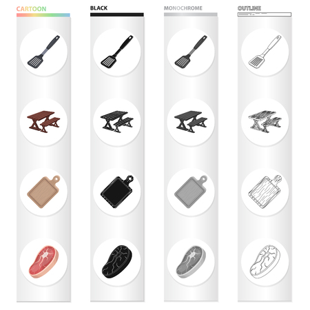 Beefsteak, meat, piece, and other  icon in cartoon style.Nature, attributes, ecology icons in set collection.