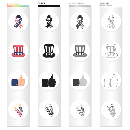Fireworks, holiday, celebration and other icon in cartoon style. Cuffs, sign, firecrackers icons in set collection.