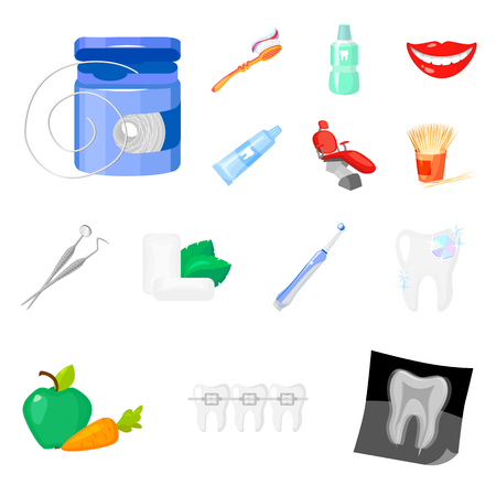 Dental Care Cartoon Icons In Set Collection For Design Care