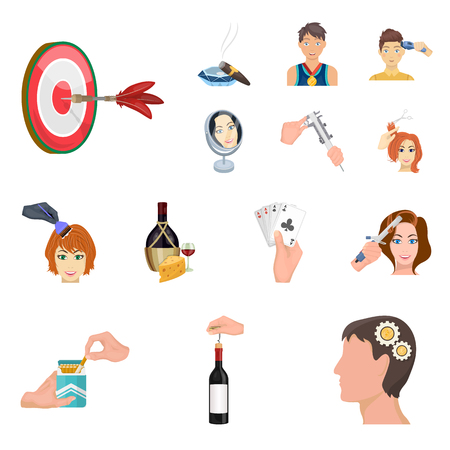 Manipulation by hands cartoon icons in set collection for design. Hand movement vector symbol stock web illustration.