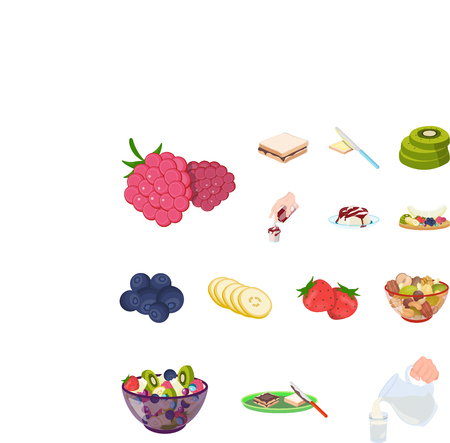 Dessert fragrant cartoon icons in set collection for design. Food and sweetness vector symbol stock illustration.