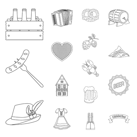 Oil industry outline icons in set collection for design. Equipment and oil production vector symbol stock  illustration. Ilustracja