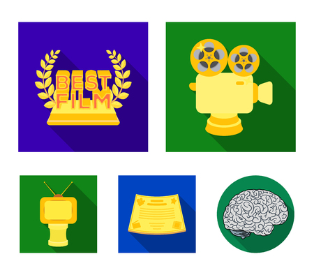 Movie awards set collection icons