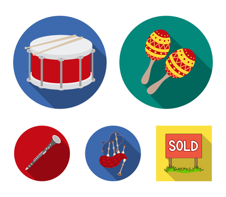 Musical instruments set collection icons  イラスト・ベクター素材