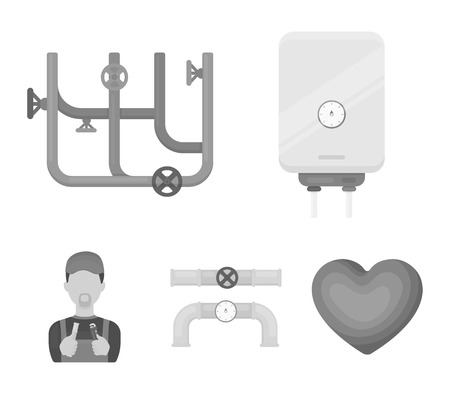 Plumbing set collection icons