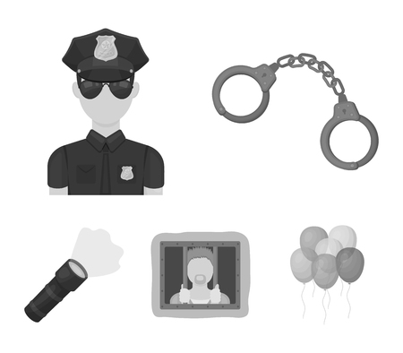 Police set collection icons
