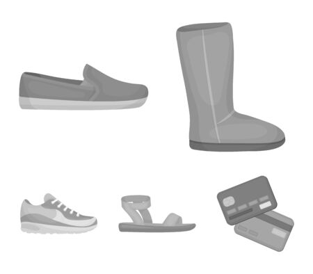 Shoes set collection icons