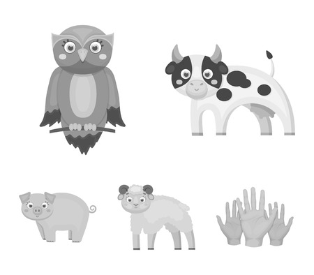 Forest, ecology, toys and other  icon in monochrome style.Animals, farm, enterprises icons in set collection.