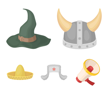 Hats set collection icons