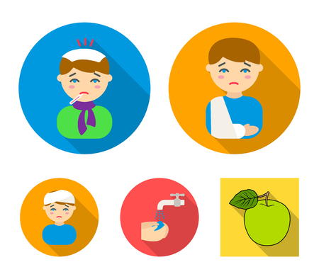 Scotland set collection icons in flat style vector symbol stock illustration web. Illustration