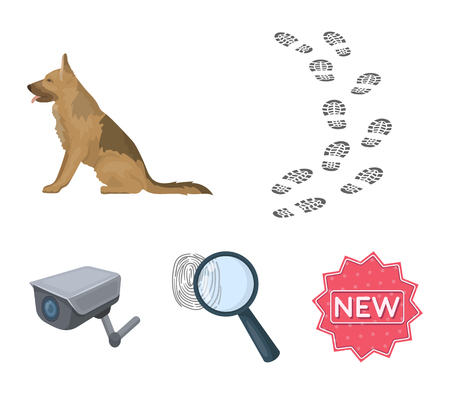 Prison search set collection icons Illustration