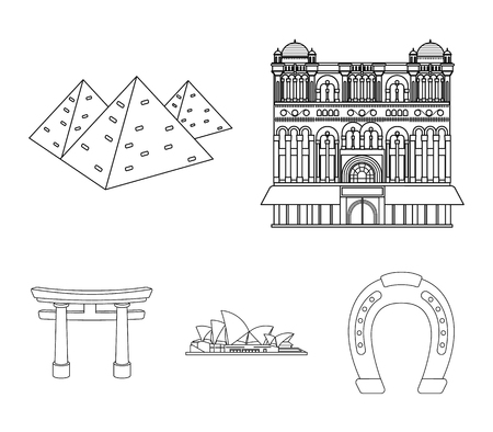 Building, interesting, place, palace .Countries country set collection icons in outline style vector symbol stock illustration web.