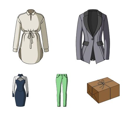Clothing Varieties and Accessories vector symbol stock illustration.