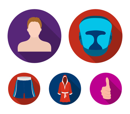 Boxing, sport, mask, helmet.Boxing set collection icons in flat style vector symbol stock illustration web.