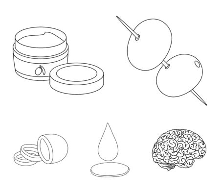 Olives set collection icons