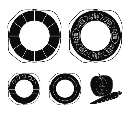 Different types of colorful swimming circles. The swimming circle set collection icons in black style vector symbol stock illustration . Illustration