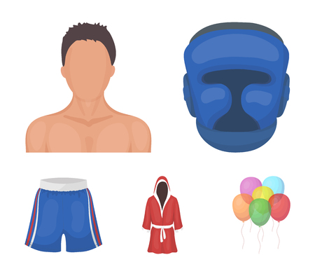Boxing, sport, mask, helmet. Boxing set collection icons in cartoon style vector symbol stock illustration.
