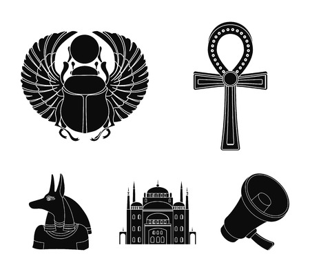 Ancient Egypt set collection icons