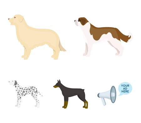 Dog breeds set collection icons in cartoon style vector symbol stock illustration .