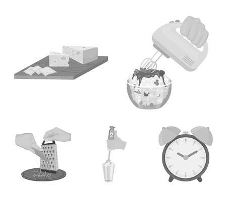 Jam, diet, accessories and other icon in monochrome style.cook, equipment, appliance, icons in set collection.