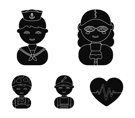 Judge, sailor, soldier, mechanic.Profession set collection icons in cartoon style vector symbol stock illustration web.
