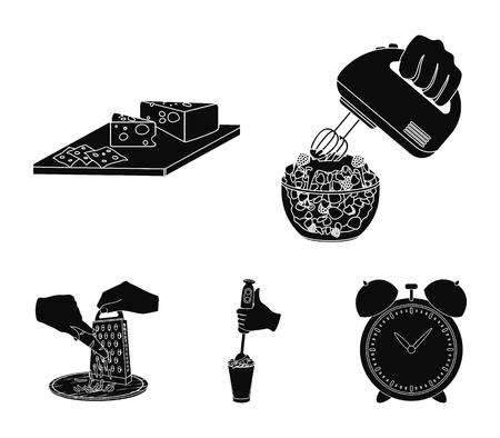 , jam, diet, accessories and other web icon in bleack style.cook, equipment, appliance, icons in set collection. Illustration