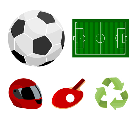 Sport set collection icons in cartoon style vector symbol stock illustration web.
