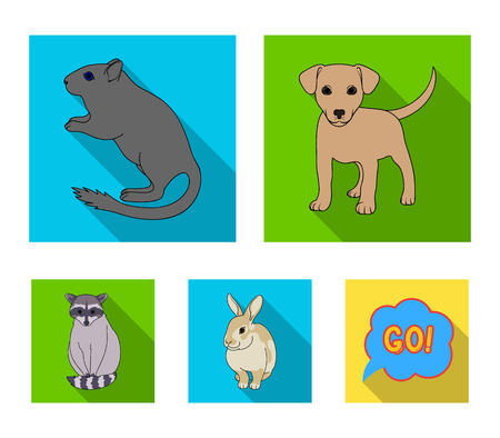Puppy, rodent, rabbit and other animal species.Animals set collection icons in flat style vector symbol stock illustration web.