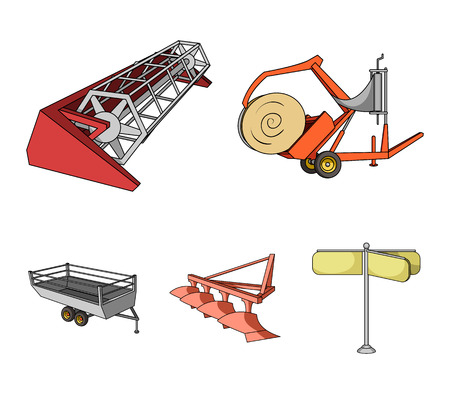 Agricultural devices illustration . Stock Illustratie