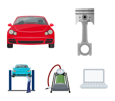 Car maintenance station vector symbol stock illustration web.
